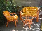 Комплект мебели от ратан с меки части