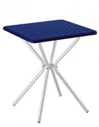 Разглобяема квадратна маса в синьо